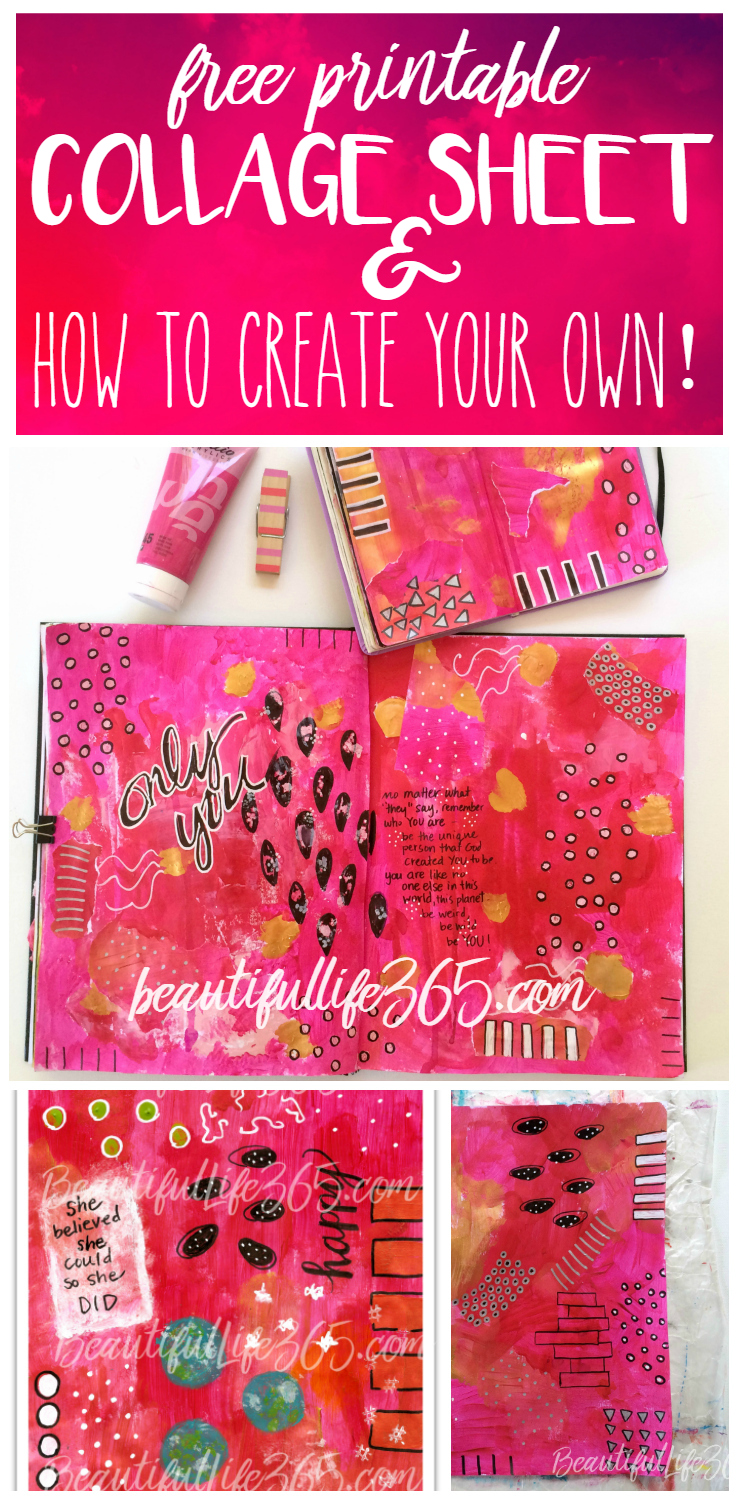 photograph regarding Free Printable Collage Sheets named Free of charge Printable Collage Sheet ( How in the direction of Deliver Collage Papers)